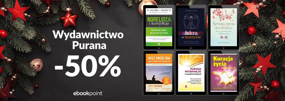 Promocja na ebooki Wydawnictwo PURANA / -50%